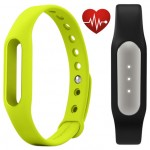 Фитнес браслет Xiaomi Mi Band Pulse Black + ремешок Mi Band Strap Green