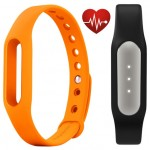 Фитнес браслет Xiaomi Mi Band Pulse Black + ремешок Mi Band Strap Orange