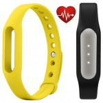 Фитнес браслет Xiaomi Mi Band Pulse Black + ремешок Mi Band Strap Yellow