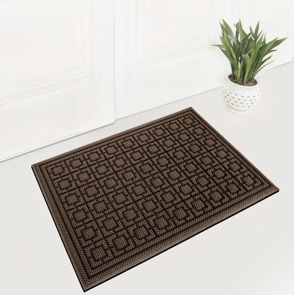 Придверный коврик Xiaomi 77+ Dustproof Rectangular Floor Mat 90x60cm Pineapple Pattern Brown Фото 7